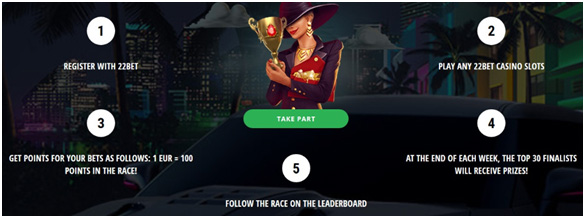Picture 14. Promotion Weekly Race by 22bet.