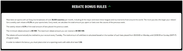 Picture 15. Rules of Rebate Bonus.