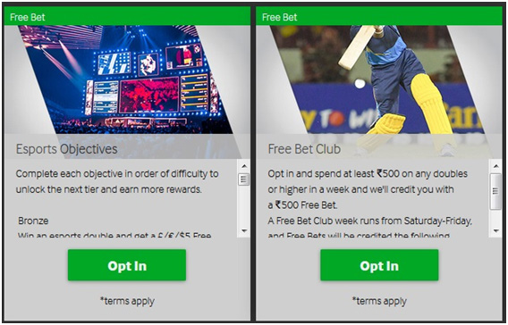 Picture 8. Promotions for getting freebets.