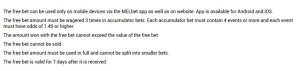 Picture 17. Rules for wagering the starting freebet.